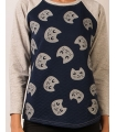 Bluza casual cu pisici  - 2