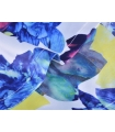 Salopeta scurta alba cu imprimeu floral galben si albastru  - 5