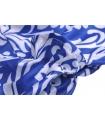 Salopeta scurta albastra cu imprimeu alb  - 4