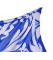 Salopeta scurta albastra cu imprimeu alb  - 5