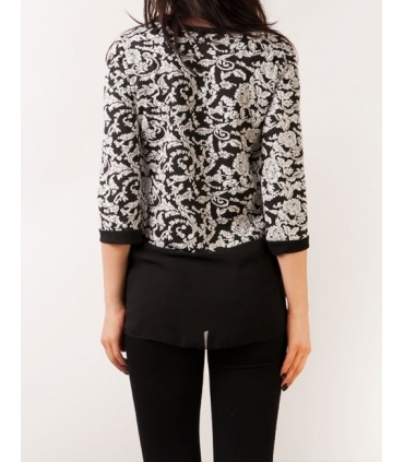 Bluza neagra cu volan  - 2