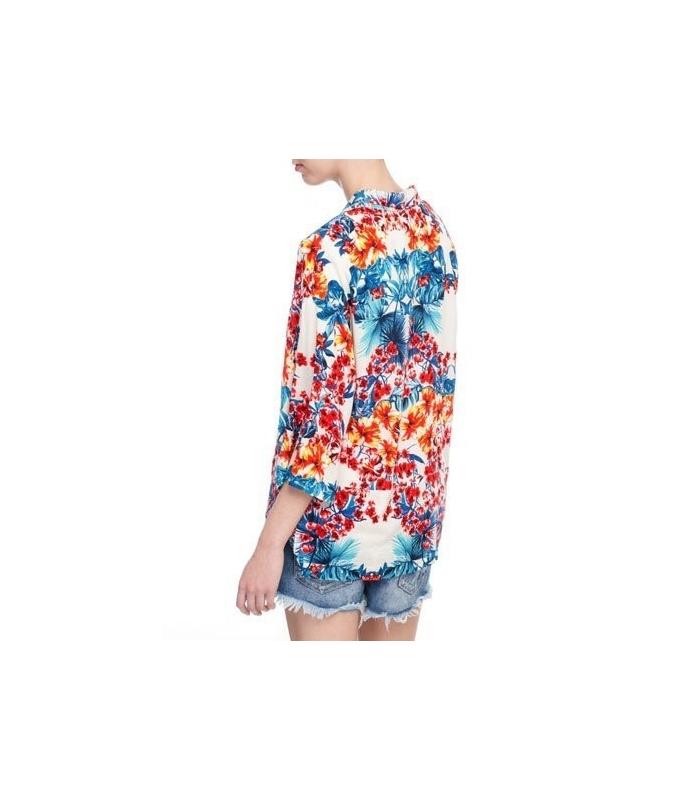Bluza lejera cu imprimeu floral  - 1