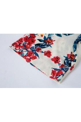 Bluza lejera cu imprimeu floral  - 3