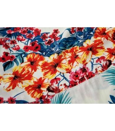 Bluza lejera cu imprimeu floral  - 4