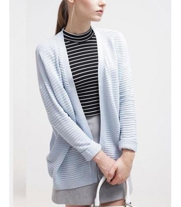 Cardigan albastru texturat  - 1