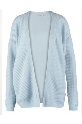 Cardigan albastru texturat  - 6