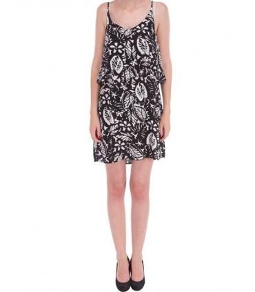 Rochie lejera de vara cu bretele de culoare neagra  - 1