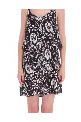 Rochie lejera de vara cu bretele de culoare neagra  - 2