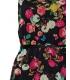 Rochie neagra stil vintage cu imprimeu floral  - 3