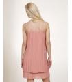 Rochie roz pudrat cu pliuri eleganta  - 3