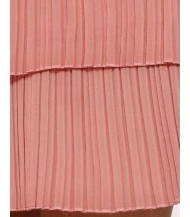 Rochie roz pudrat cu pliuri eleganta  - 4