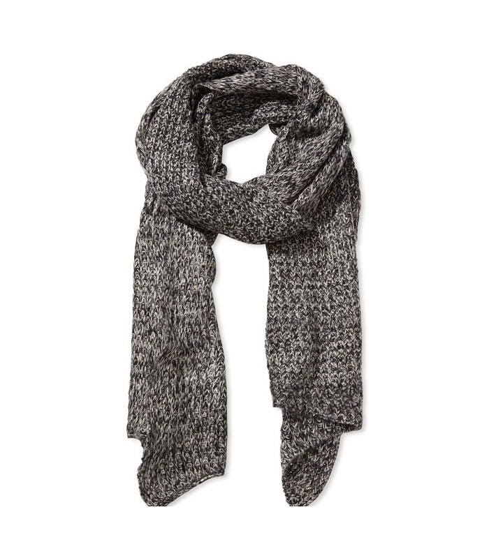 Fular gri tricotat  - 1