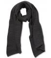 Fular tricotat gri-inchis