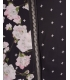 Bomber jacket neagra cu imprimeu floral  - 3