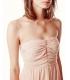 Rochie roz prafuit eleganta, fara bretele, vaporoasa  - 2