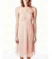 Rochie roz prafuit eleganta, fara bretele, vaporoasa  - 4