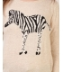 Bluza crem cu zebra  - 3