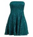 Rochie albastra cu broderie si paiete