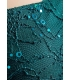 Rochie albastra cu broderie si paiete  - 2