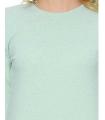 Rochie albastru pastelat, eleganta cu sclipici discret argintiu  - 4