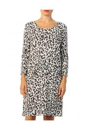 Rochie lejera cu imprimeu stil leopard  - 3