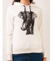 Hanorac alb cu imprimeu elefant  - 2