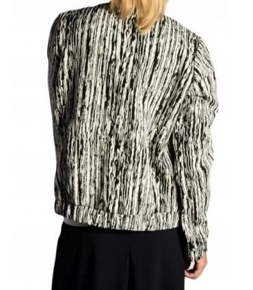 Jacheta texturata alb cu negru  - 2