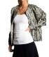 Jacheta texturata alb cu negru  - 3