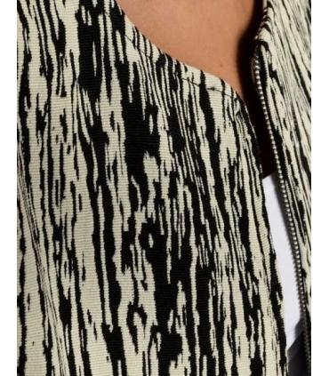Jacheta texturata alb cu negru  - 4