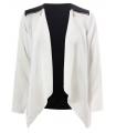 Jacheta din voal alb si negru