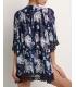 Kimono bleumarin cu imprimeu floral  - 4