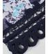 Kimono bleumarin cu imprimeu floral  - 8