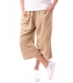 Pantaloni 3/4 culottes bej