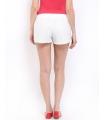 Pantaloni scurti albi din dantela  - 2