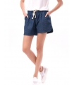Pantaloni scurti bleumarin cu buline imprimate si snur alb  - 3