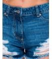 Pantaloni scurti de blugi cu rupturi  - 2