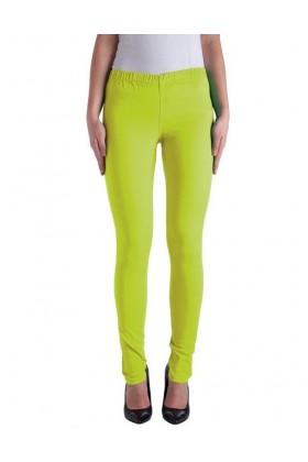 Pantaloni galben neon tip colant  - 1