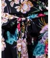 Salopeta bleumarin tip rochie cu imprimeu floral Parisian - 9