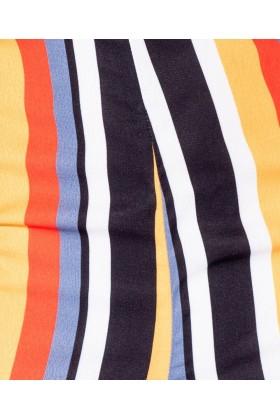 Salopeta cu dungi colorate fara bretele Parisian - 7