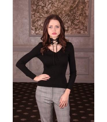 Maleta Style Neagra cu guler adanc  - 1