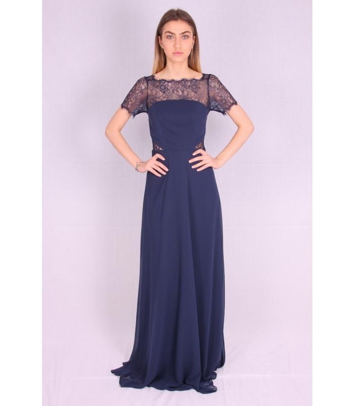 Rochie de seara lunga albastra  - 1