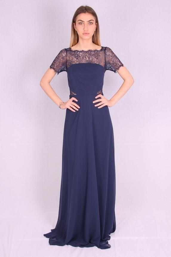 Rochie de seara lunga albastra