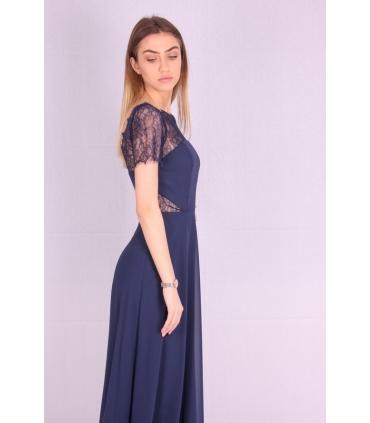 Rochie de seara lunga albastra  - 3