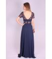 Rochie de seara lunga albastra  - 4