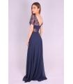 Rochie de seara lunga albastra  - 5