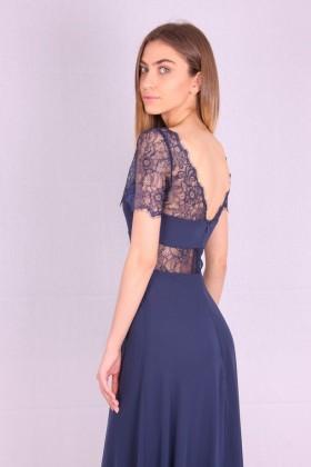 Rochie de seara lunga albastra  - 6