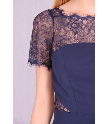 Rochie de seara lunga albastra  - 7
