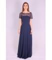 Rochie de seara lunga albastra  - 8