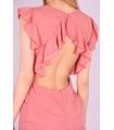 Rochie de seara cu spatele gol de culoare roz  - 4