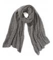 Fular tricotat gri deschis  - 2